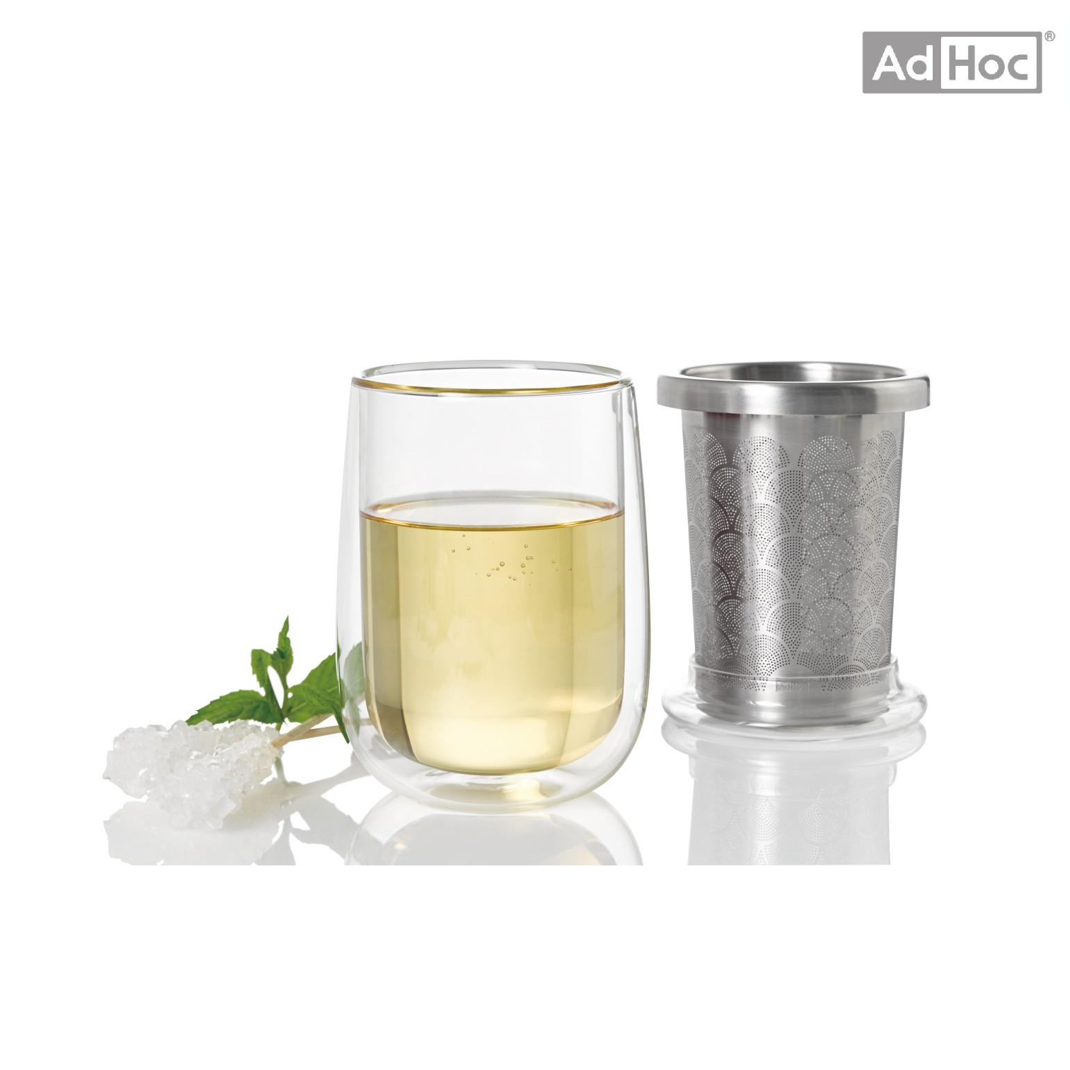 AdHoc 雙層玻璃杯附不銹鋼濾茶器 (TF20)