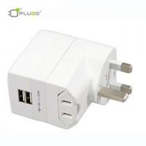PLUGO 環球通雙USB充電器(2.4A)