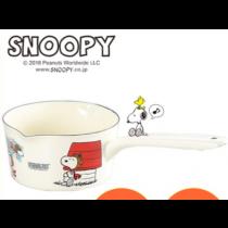 日式雜貨 snoopy 琺瑯單柄手鍋